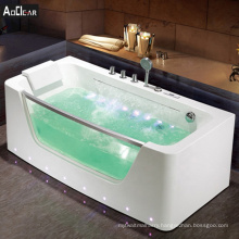 Aokeliya waterfall corner whirlpool massage bathtub with lights and control panel for bath