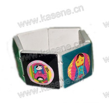 Newest Design White Wooden Bracelet with Cartoon Pictures