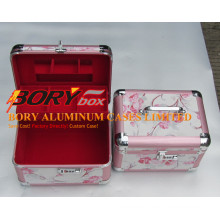 Fancy Pattern Cosmetic Case with Compartments