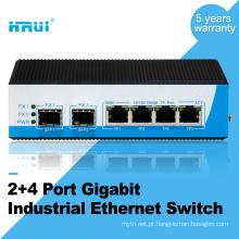 Não gerenciado gigabit 2 porta sfp 4 portas industrial switch