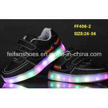 New Design Flash Luminous Light LED Shoes Children LED Shoes (FF406-2)