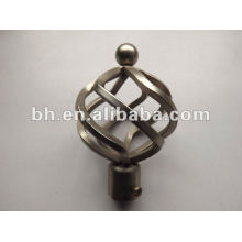 hot sell antique brass curtain pole 25mm finial, twisted curtain rod finial, modern curtain finials