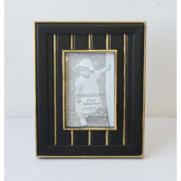 Marco de madera negro de la foto del MDF con la línea de Gloden