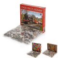 Custom design paper toy adult puzzle games 1000 pieces jigsaw puzzle for kids