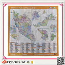 Map Printing Microfiber Cloth, Cleaning Cloth for Lens/PC/Goggle/Camera, etc