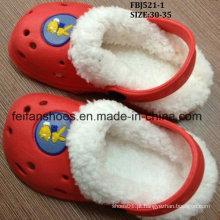 Venda quente inverno worm chinelo de sapatos de eva (fbj521-1)