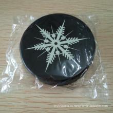Hockey sobre hielo llano negro de 6 onzas de silicona