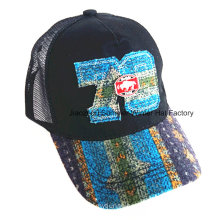 Constructed Joint Embroidery Brushed Cotton Twill Baseball Cap