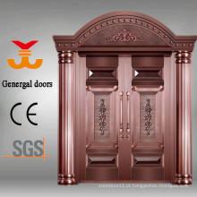 Porta principal de bronze real de 100% para casas de campo