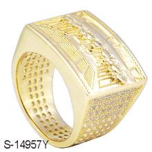Anillo de los hombres de la joyería de la joyería 925 de la manera del oro 14 K de la joyería de la manera.