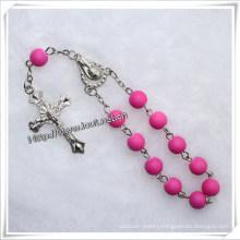 8mm Religious Plastic Rainbow Beads One Decade Rosary (IO-CE031)