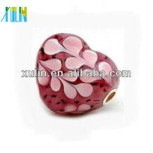 grânulos corais completos bonitos 20 * 20mm do núcleo do chapeamento de prata do coração