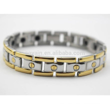 Made In China Scalar Energy Ions Stainless Steel Two Tone Chain Link Bracelet