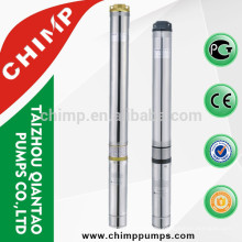 "CHIMP 4"" QJD 2m3/h 1.5HP/1.1kW 220V/380V/415V stainless steel borehole centrifugal submersible pump"