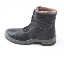 Winter Leather Safety Boots with Fur Lining (SN1558)