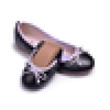 Dame PU Leder Obere Mode Schuh Frauen Faltbare Ballett Wohnungen
