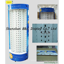 Removable Glasses Paper Display Shelf / Cardboard Display Stand (B&C-B019)
