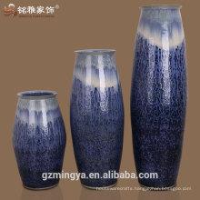 Elegant design hotel lobby decoration ceramic material tall decorative vase