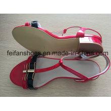 2-3см высокий каблук туфли с цветами красота, женские открытые летние сандалии