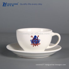 cheap ceramic coffee cup custom-made bone china tea Cup porcelain tea Cup And Sausers your own logo