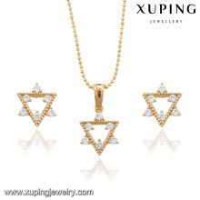 63876 Xuping fashion beautiful Italian gold plated jewelry sets