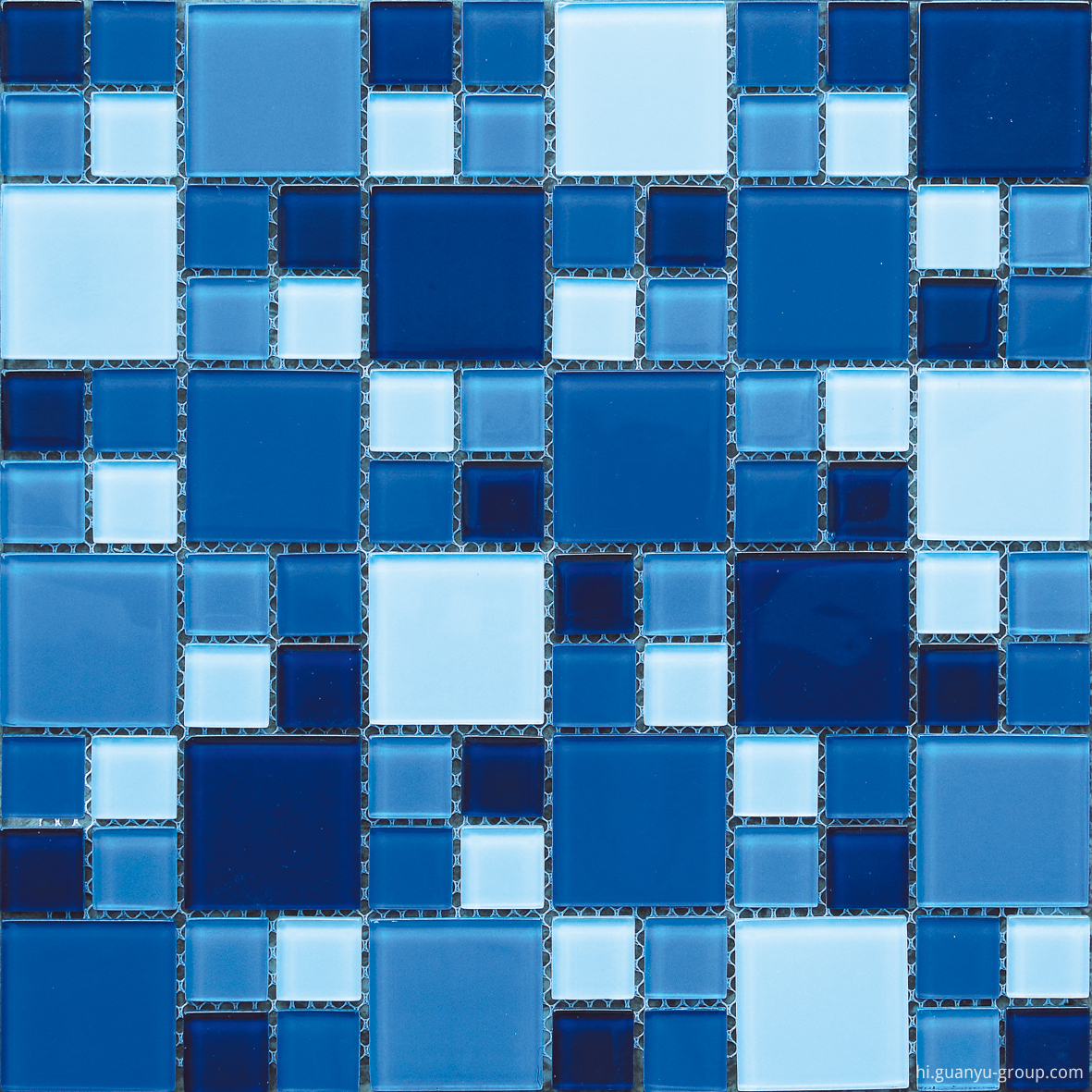 Size Mixed Crystal Glass Mosaic