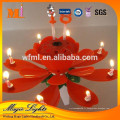 Rotation joyeux anniversaire Lotus Flower Music Candle