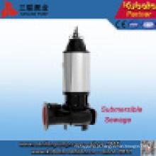 Sanlian não-obstrução de aço inoxidável submersível esgoto bomba