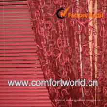 Bordado moda cortina Voile