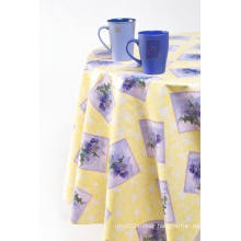 """Flannel Backing PVC Table Cloth 0.15mm*54""""*100m/Roll"""