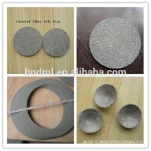 Maille filtrante en feutre non-tissée en acier inoxydable