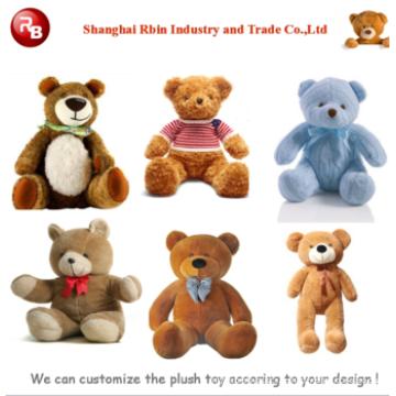 Kundengebundener Soem-Entwurf! Riesige Mini Plüsch Teddybär Spielzeug American Puppe Baby Puppe