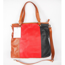 Guangzhou Supplier Fashionable Colorful Real Leather Womens Handbag (160)