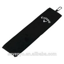 Golf Handtuch 100% Baumwolle schwarz Golf Handtuch GYM Sport Handtuch angepasst Logo ST-013