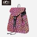 Bolso mochila con cordón luminoso de cuero PU geométrico