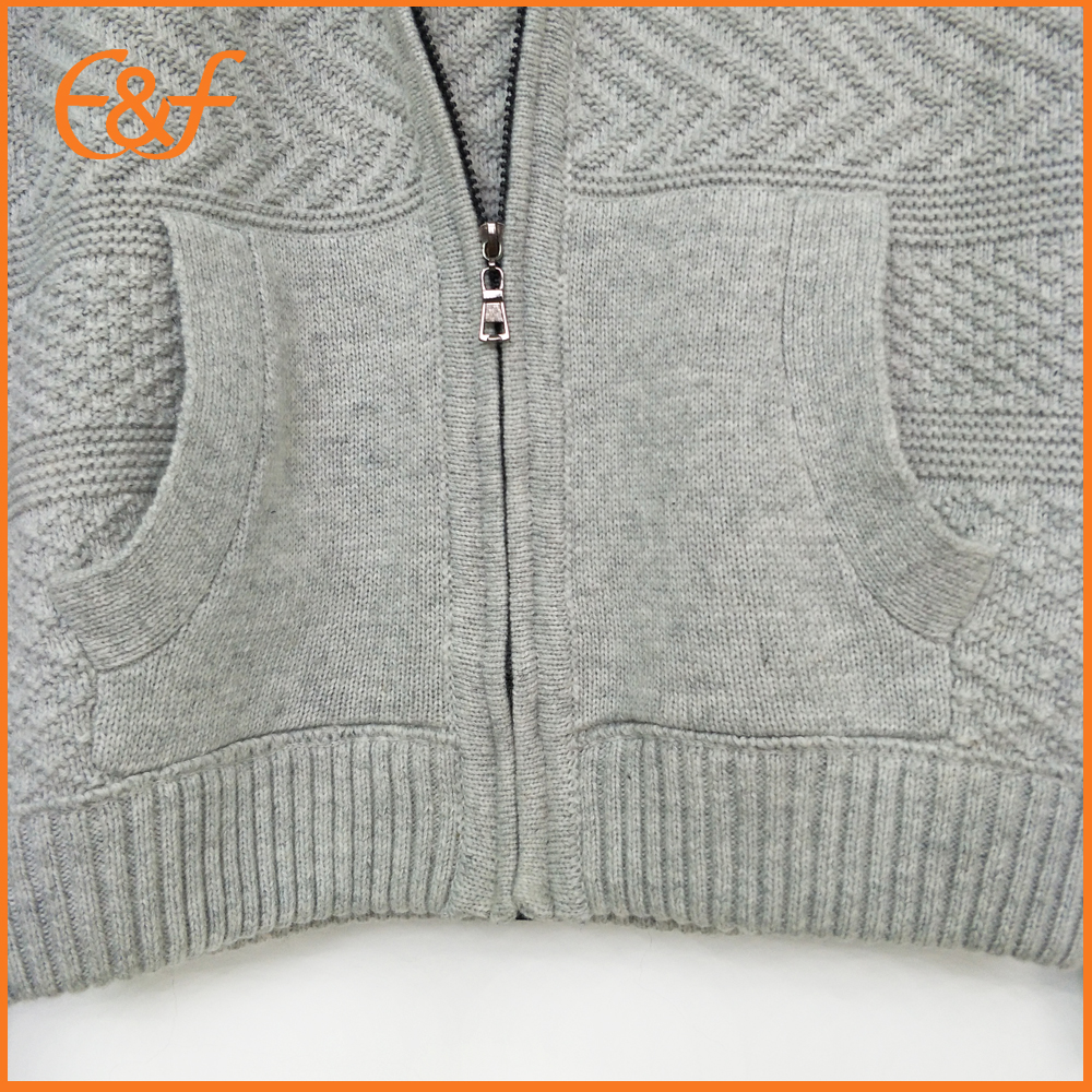 Men knitted cardigan sweater with pockets