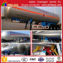 Recipiente do LPG do reboque do caminhão de petroleiro do transporte do gás semi