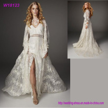Heißes verkaufendes Morden Art-Tulle-Hochzeits-Kleid-Braut-volles Spitze-Kleid
