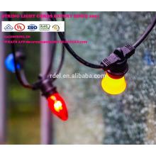 Chaîne imperméable à l'eau de 15M 15 prises de courant allumant la lumière de chaîne de vacances de la catégorie E26 E27 LED SLT-191