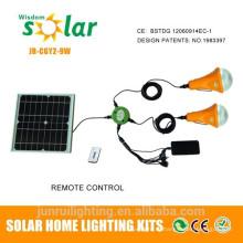 Перезаряжаемые солнечное освещение для домашнего использования солнечной энергии фонарик
