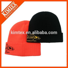 China wholesale fashion winter custom acrylic plain beanie