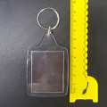 34x45MM Photo Holder Acrylic Clear Plastic Keyring