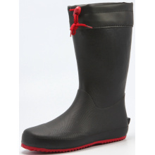 Black Men's Rubber Transplanting Boots With Pvc Cover