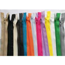 Hiqh quality custom closed end colorful nylon zipper in bulk for garment
