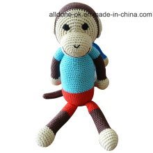 Hot Sale Hand Crochet Monkey Toy Doll for Baby Gift