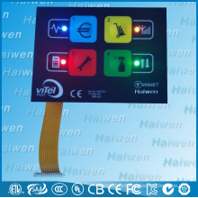 Adhesive PET LED Membrane Switch Keyboard With Embossed Metal Dome Push Button