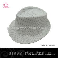 2015 Popular stripes fedora hat