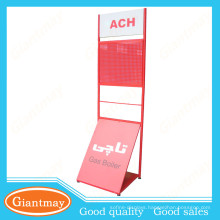 flyer floor display advertising stand with hooks or basket