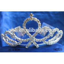 Neue Modell Kristall Krone Kristall Tiara Prinzessin Tiara für Mädchen Krone Geburtstag Prinzessin Krone