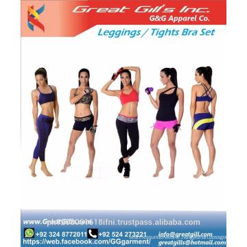 ensemble de legging soutien-gorge de sport / leggings de gym / porte de gym